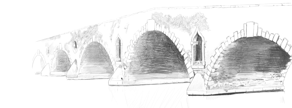 Digital drawing of the Graignamangh bridge by Scott Kennedy