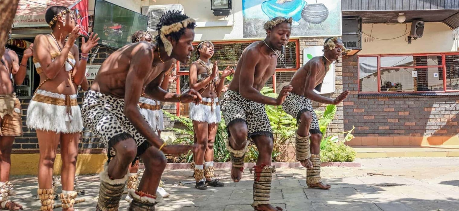 African zulu dancing - Soweto South Africa