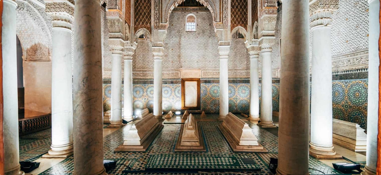 morocco, tombs saadi, marrakesh