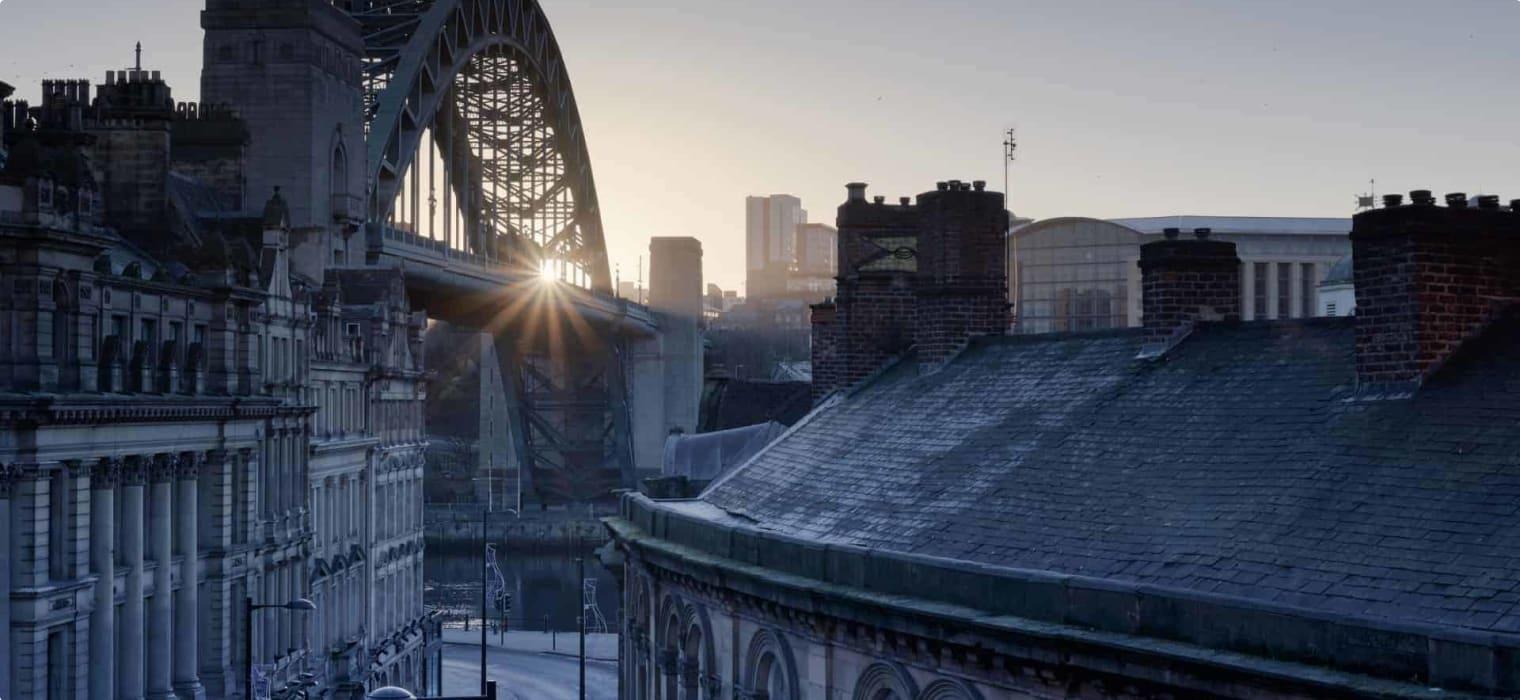 The Quayside at Newcastle upon Tyne and Gateshead