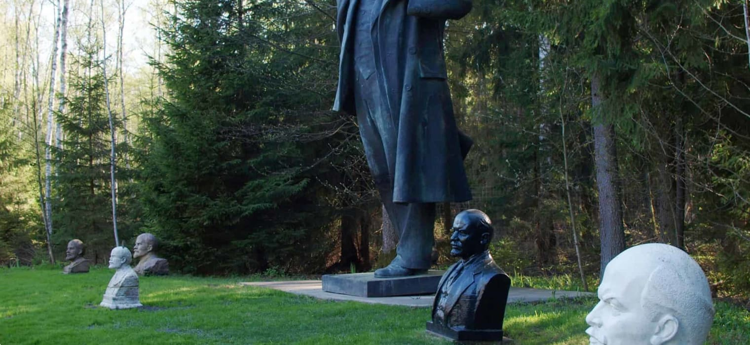 Busts and statues of Lenin, at Grūto Parkas (Grutas Park), Lithuania.