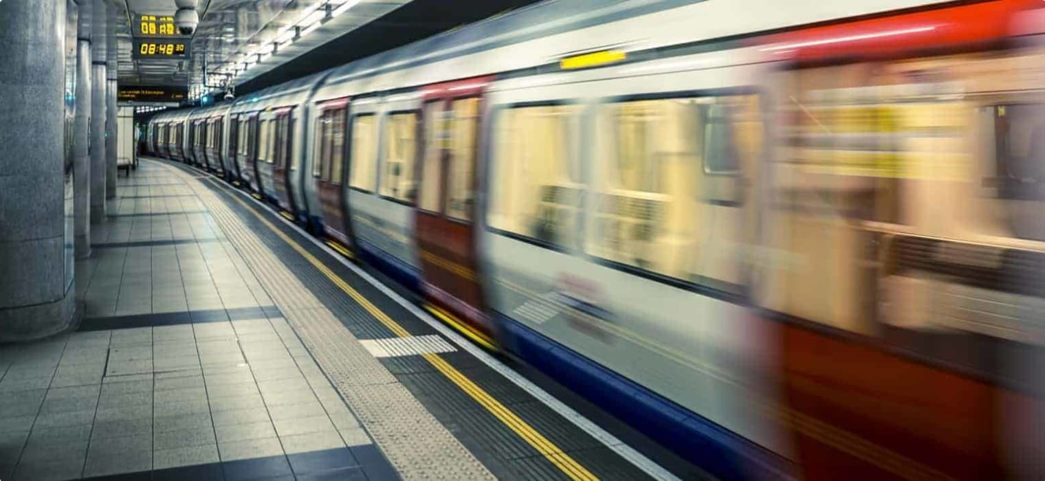 Modern tube train