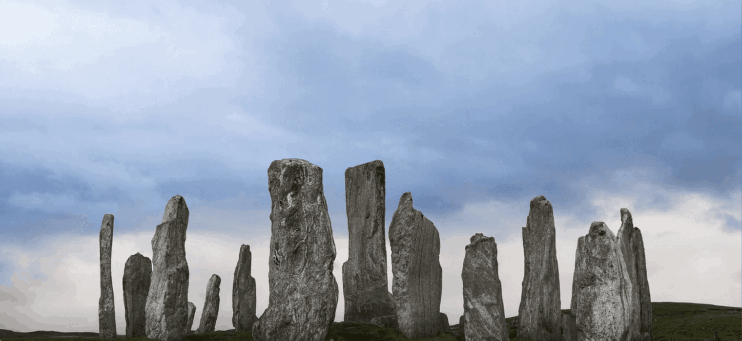 Ancient neolithic stone circle at Callanish on the Isle of Lewis, Outer Hebrides, Scotland