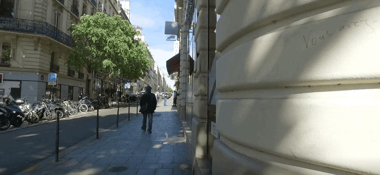 Elegant arcades of Paris