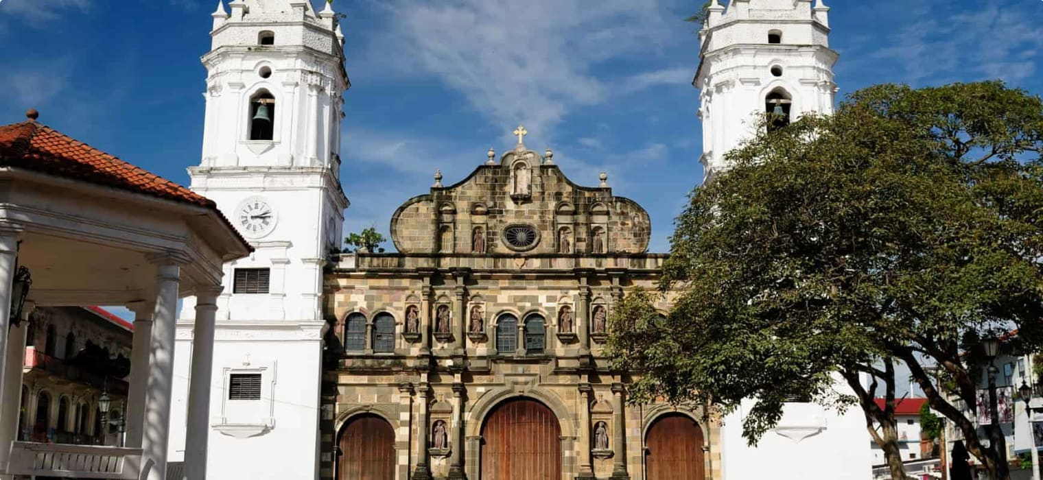 Cathedral Basilica of St Mary Casco Viejo in Panama City
