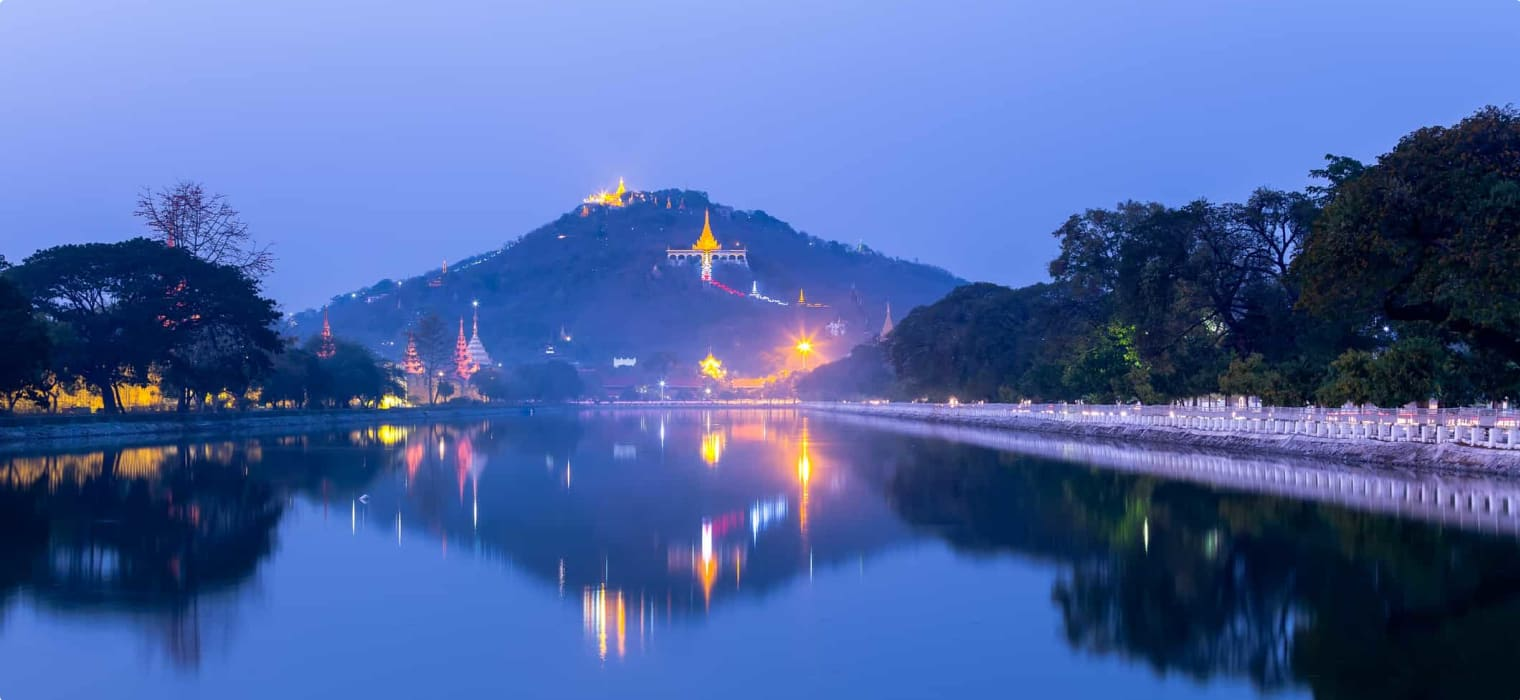 Mandalay Hill at twilight Myanmar