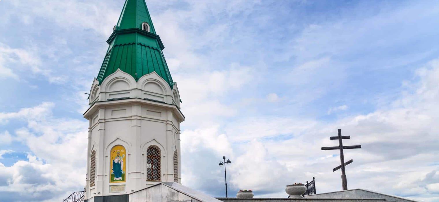 Paraskeva Pyatnitsa Chapel in Krasnoyarsk. Russia