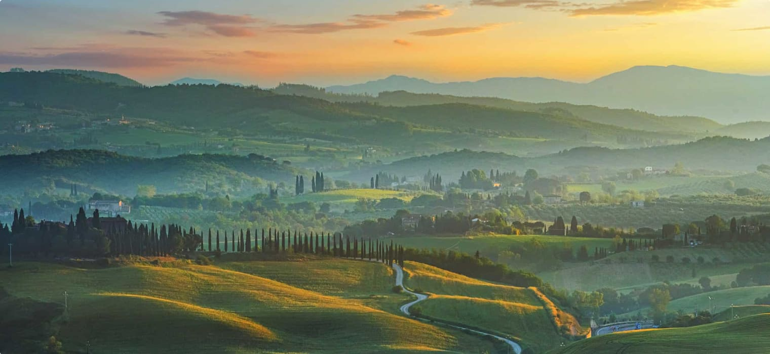 Landscape in Crete Senesi, Tuscany, Italy