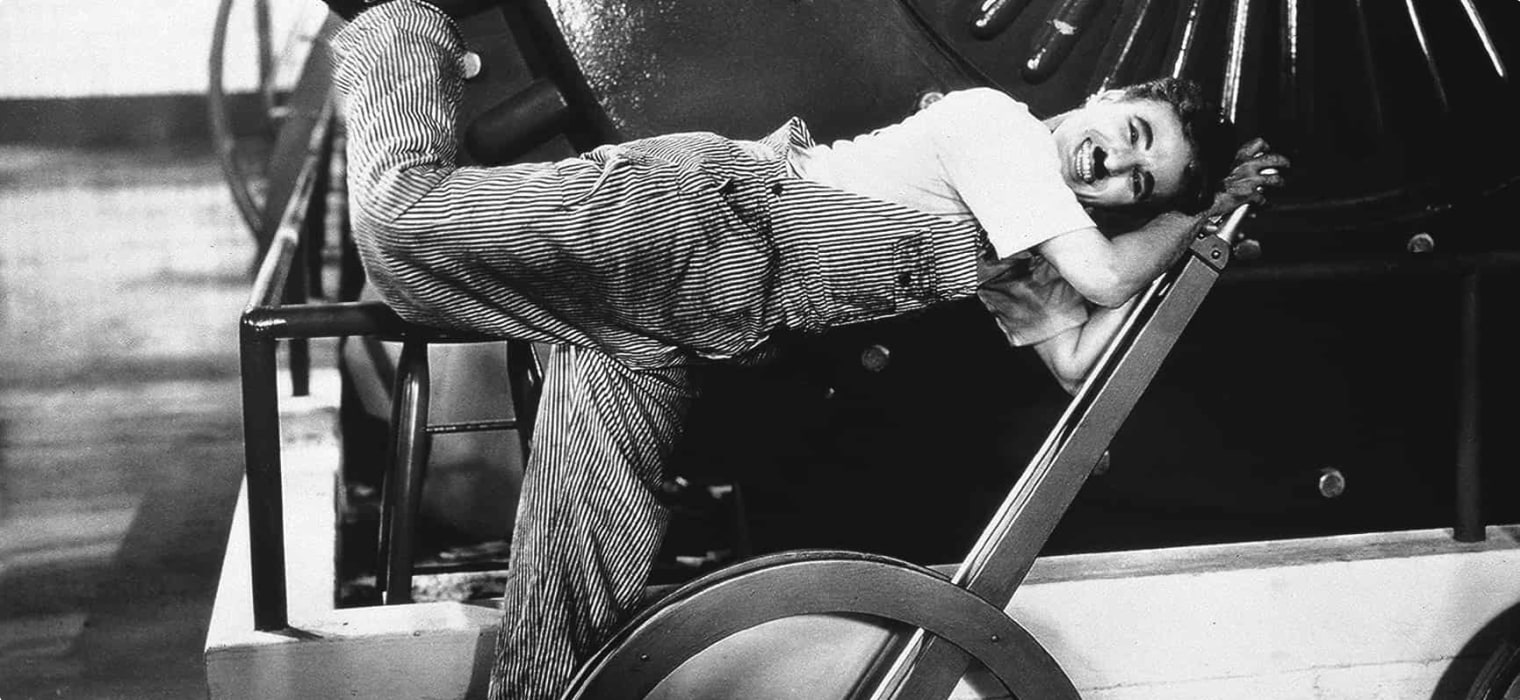 Charlie Chaplin - Modern Times movie scene
