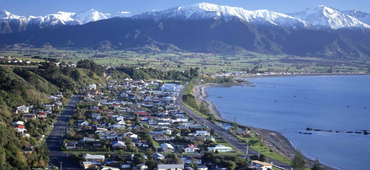 Kaikoura on the south island of New Zealand.