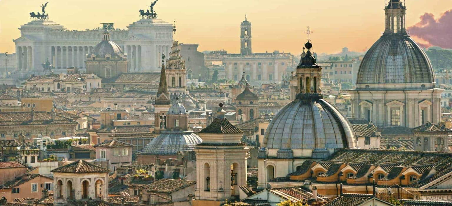 View from Castel Sant'Angelo, Rome, Italy