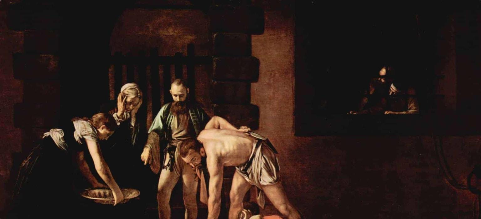 Caravaggio's The beheading of Saint John the Baptist