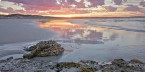 Sunrise reflected on Eyre Peninsula SA
