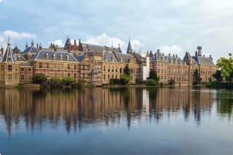 Binnenhof Palace in The Hague Netherlands