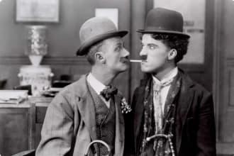 Charlie Chaplin - His New Job movie scene