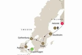 Map of Scandinavian Design tour