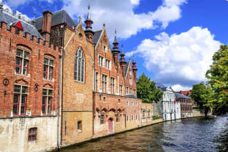 Bruges Belgium, Flanders, Groenerei water canal