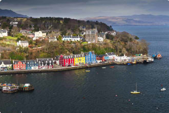 Tobermory village on the Island of Mull on the west coast of Scotland