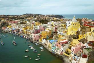Island Procida near Naples, Italy