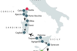 Malta, Sicily, Corsica - Western Mediterranean Islands