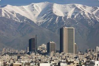 Persian Heritage small group Skyline of Tehran Alborz Mountains