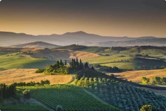 Tuscan morning in Val d'Orcia, Italy