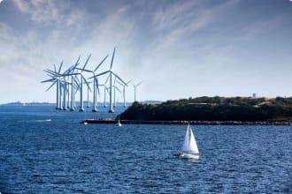 Windfarm Copenghagen Denmark Sweden