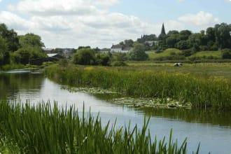Canal near an English village