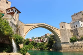 Stari Most in the city of Mostar
