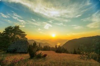Tara Mountain Range in western Serbia.