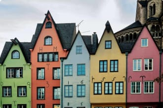 Colorful houses in Cologne