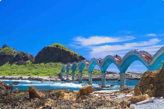 Curve bridge in Sanxiantai, Taiwan