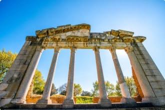 Temple ruins in Ancient Apollonia Albania Balkans