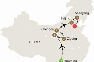 Map of Chinese Dinosaur