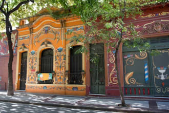 Colourful houses in Buenos Aires, Argentina