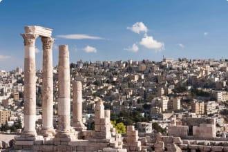 Roman temple of Hercules in the Amman Citadel in Jordan