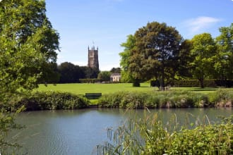 Cirencester church and park, Cotsworlds, England