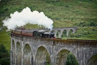 Steam Enging Viaduct Britain