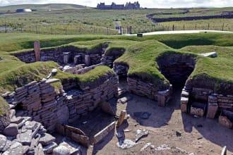 Neolithic Village of Skara Brae, Kirkwall, Orkney Islands, Scotland