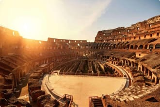 Colliseum in the sunset, Rome, Italy