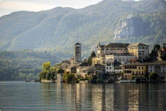 lake Orta, North Italy, Piedmont.
