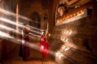 Reclining Buddha, Myanmar
