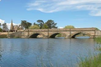 Historic sandstone bridge at Ross Tasmania Australia