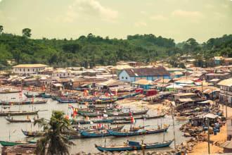 West Africa tour - fisherman village in Ghana