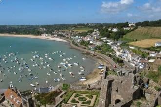 Guernsey village seaside