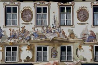 Luftmalerei in Oberammergau