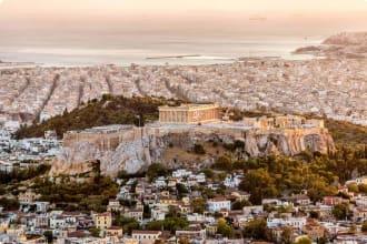 Greece, Acropolis, Sunset, Athens