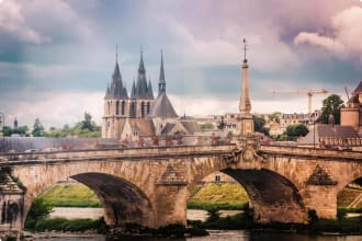 Loire River, Blois, Cathedral, Bridge