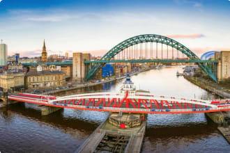 Newcastle River Tyne and City Panorama