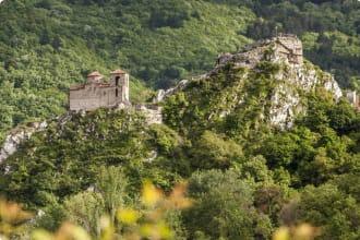 Remains of Assen's fortress (in Bulgarian Asenova krepost) near Assenovgrad in Bulgaria